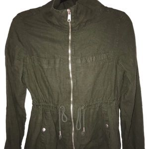 Old navy jacket olive size small linen
